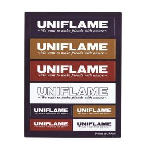 UNIFLAME ユニフレーム UFステッカー/コンボ 690109 ステッカー スポーツ スノーボード アクセサリー アウトドアギア|od-yamakei