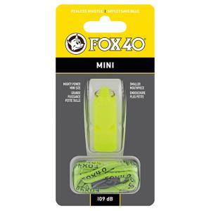 FOX40 フォックス40 ミニホイッスル/ YL 23262 イエロー ホイッスル アウトドア 釣り 旅行用品 キャンプ 笛 救助用 アウトドアギア|od-yamakei
