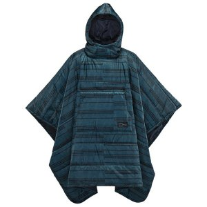 thermarest サーマレスト ホンチョポンチョ/ブループリント 30124 ブルー 毛布 ブランケット アウトドア 釣り 旅行用品 ポンチョ型 ポンチョ型 od-yamakei