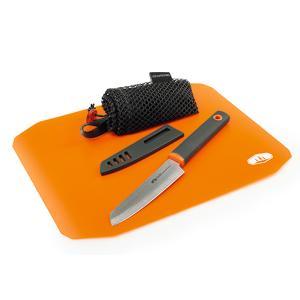 GSI ジーエスアイ ロールアップカッティングボードナイフセット 11872057 オレンジ アウトドア 釣り 旅行用品 キャンプ 登山 まな板・包丁 まな板・包丁|od-yamakei