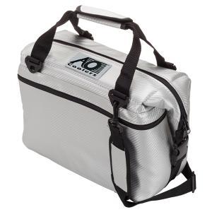 AO Coolers エーオークーラー 12パックカーボンソフトクーラー/シルバー AOCR12SL クーラーバッグ 保冷バッグ アウトドア 釣り 旅行用品|od-yamakei