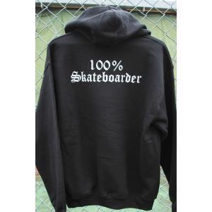 100%SKATEBOARDERS (100%スケートボーダー,パーカー,プルオーバー) LOGO PULL OVER BLACK|oddball-skate-snow