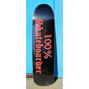 100%SKATEBOADER (デッキ,プールシェイプ,ジェイソンジェシー) LOGO POOL SHAPE BLACK/RED 8.5|oddball-skate-snow