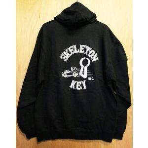 SKELETON KEY (スケルトンキー,スウェットパーカー) REAPER PULLOVER BLACK|oddball-skate-snow