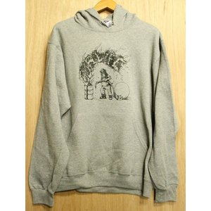 OUR LIFE (アワーライフ,スウェットパーカー) FIRE PIG HOODIE GREY|oddball-skate-snow