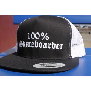 100%SKATEBOADER (100%スケートボーダー,帽子,メッシュキャップ) LOGO MESH CAP|oddball-skate-snow