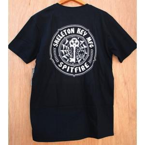 SPIT FIRE × SKELETON KEY (スピットファイヤー,スケルトンキー Tシャツ) POCKET TEE BLACK|oddball-skate-snow