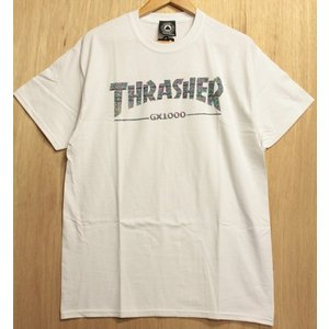 THRASHER (スラッシャー,GX1000,Tシャツ) GX1000 TEE WHITE|oddball-skate-snow