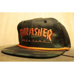 THRASHER (スラッシャー,迷彩,カモ,キャップ) Thrasher Rope Snapback camo/orange|oddball-skate-snow