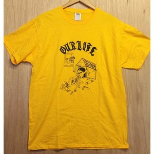 OURLIFE (アワーライフ,Tシャツ) DOG HOUSE TEE GOLD|oddball-skate-snow