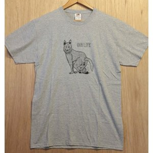 OURLIFE (アワーライフ,Tシャツ) WOLF TEE H.GRAY|oddball-skate-snow
