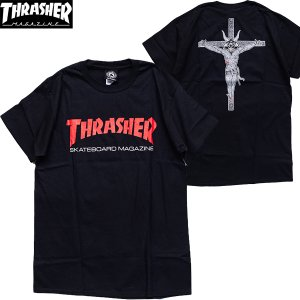THRASHER (スラッシャー,バックプリント,Tシャツ) RESURRECTION TEE BLACK|oddball-skate-snow