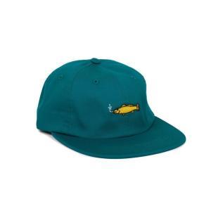 GOOD WORTH & CO (グッドワース,キャップ,帽子) SMOKING FISH STRAPBACK green|oddball-skate-snow