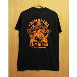 GRINDLINE×ANTIHERO (グラインドライン,アンンタイヒーロー,Tシャツ) S/S TEE black oddball-skate-snow