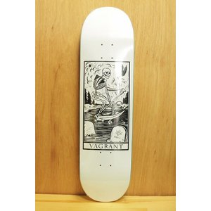 VAGRANT SKATEBOARD (バグラント,デッキ) DEATH CARD 8.6 white|oddball-skate-snow