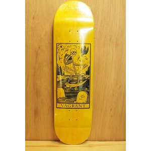 VAGRANT SKATEBOARD (バグラント,デッキ) DEATH CARD 8.6 yellow|oddball-skate-snow