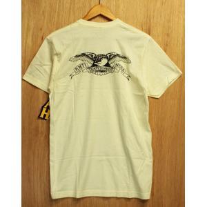 ANTI HERO (アンタイヒーロー,イーグル,Tシャツ) BACK EAGLE S/S TEE natural|oddball-skate-snow