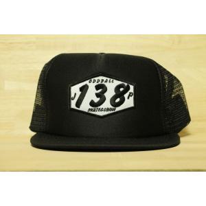 ORIGINAL 138 FLAT VISOR MESH CAP (オッドボール,オリジナル,フラットバイザー,138メッシュキャップ) black|oddball-skate-snow