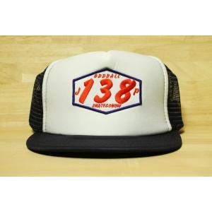 ORIGINAL 138 FLAT VISOR MESH CAP (オッドボール,オリジナル,フラットバイザー,138メッシュキャップ) navy/white|oddball-skate-snow