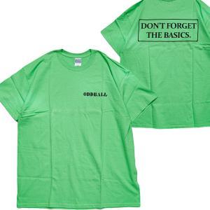 ORIGINAL S/S TEE (オッドボール オリジナル Tシャツ) DFTB S/S TEE lime|oddball-skate-snow