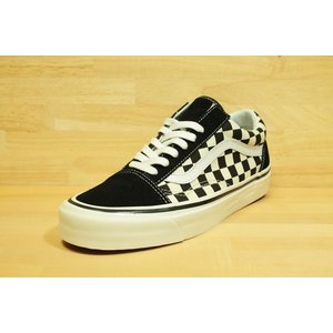 VANS US OLD SKOOL (バンズ,オールドスクール,チェッカー,アナハイムファクトリー) OLD SKOOL 36 DXANAHEIM FACTORY  black/check|oddball-skate-snow