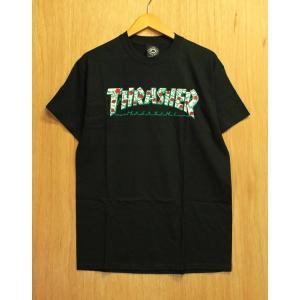 THRASHER (スラッシャー,バラ,ローズ,Tシャツ) ROSES S/S TEE black|oddball-skate-snow