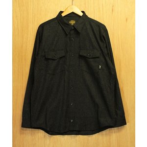 GREEN CLOTHING (グリーンクロージング,ウールシャツ) WOOL FLANNEL SHIRTS charcoal|oddball-skate-snow
