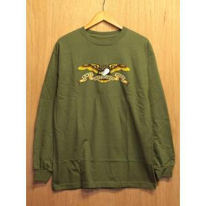 ANTI HERO (アンタイヒーロー,ロンT) L/S TEE EAGLE militaly green|oddball-skate-snow