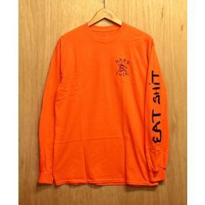 HARD LUCK (ハードラック,イートシット,ロンT) OG LOGO EAT SHIT L/S TEE orange/black|oddball-skate-snow