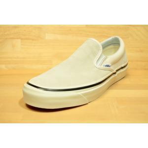 VANS バンズ スケート スニーカー クラッシックスリッポン アナハイムファクトリー CLASSIC SLIP-ON 98 DX Anaheim Factory suede/og white|oddball-skate-snow