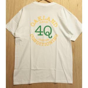 4Q(フォーキュー,ポケットTシャツ)LOGO POCKET TEE WHITE/GREEN/YELLOW|oddball-skate-snow