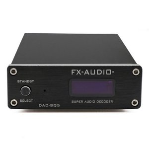 【送料無料】ハイレゾ対応オーディオDAC FX-AUDIO DAC-SQ5(ACアダプター付)(PCM1794+VT1630A内蔵)