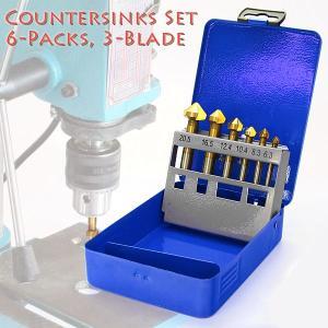 カウンターシンクセット 3枚刃 6本セット