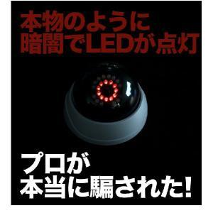 ダミーカメラ 防犯カメラ 監視カメラ 屋内 配線不要 防犯ステッカーやプレート看板と併用がオススメ|odin|04