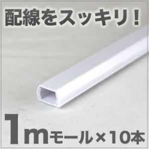 ケーブルモール 配線カバー ホワイト 10本セット|odin