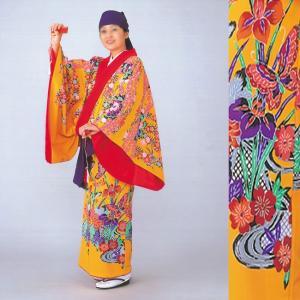 沖縄民謡衣裳 びんがた衣裳 着物 きもの 単衣仕立て上り