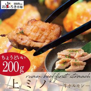 焼肉 バーベキュー BBQ 上ミノ 厚切り 200g 真空パック