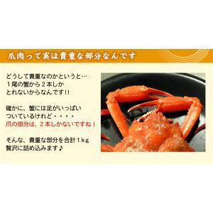 ボイル紅ずわいがに爪 ズワイガニ 業務用1キロ(送料無料) (カニ 蟹 紅ズワイ)|oec-kanisho|06