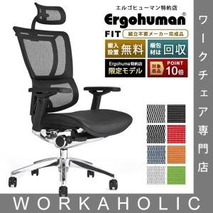 エルゴヒューマン フィット Ergohuman Fit ヘッドレスト付 梱包材を無料で処分:家財便配...