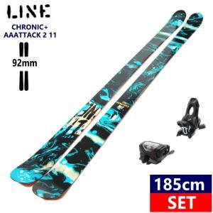 ◎[185cm/92mm]LINE CHRONIC+AAATTACK2 11 BLK ライン クロニック ツインチップ スキー板 ビンディングセット 型落ち|off-1