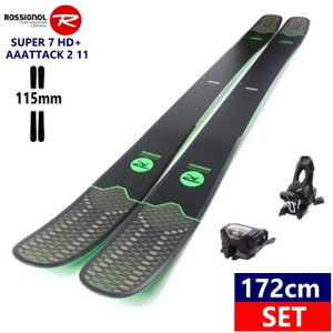 ◎[172cm/115mm]ROSSIGNOL SUPER 7 HD+AAATTACK2 11 BLK ロシニョール スーパーセブン スキー板 ビンディングセット 型落ち|off-1