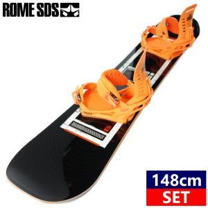 ★[148cm]19 ROME CHEAPTRICK AT+19 FIX TRUCE カラー:ORANGE スノーボード 型落ち 板 バイン 二点セット
