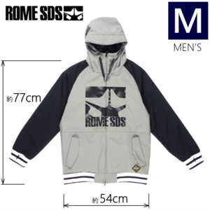 ◎メンズ[Mサイズ] 18 ROME SDS JKT カラー:BLACK LIGHT GRAY スノーボードウェア ジャケット ローム スノボウェア メンズジャケット ソフトシェルジャケット|off-1