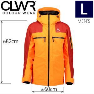 ★ 18-19 CLWR FRAME JKT カラー:MANDARIN Lサイズ カラーウェア COLOUR WEAR フリースキー スノーボード ウェア メンズジャケット JACKET|off-1