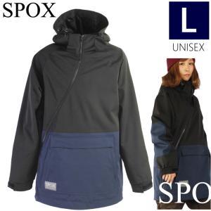 ◆ 20-21 SPOX PULLOVER JKT カラー:BK Lサイズ スノーボード ウェア スポックス ユニセックス メンズ レディース ジャケット プルオーバー 強力撥水 SPJ-0850 off-1