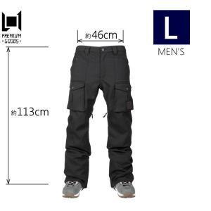 ★メンズ[Lサイズ]19 L1 SLIM CARGO PNT カラー:BLACK エルワン スキー スノーボードウェア メンズパンツ 細身 スリムカーゴパンツ 日本正規品|off-1
