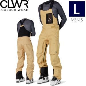 ☆ 19-20 CLWR HAWK PNT カラー:SAND Lサイズ カラーウェア COLOUR WEAR フリースキー スノーボード ウェア メンズ ビブパンツ オーバーオール PANT off-1