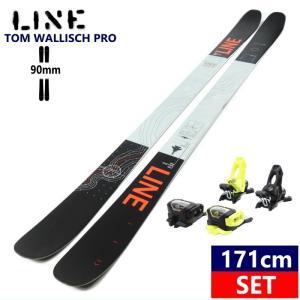 ☆[171cm/90mm幅]20 LINE TOM WALLISCH PRO+AAATTACK2 11 MIX yel*black スキー板 ビンディングセット ツインチップ グラトリ【2019-2020モデル】 off-1