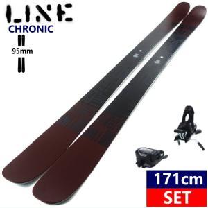 ☆[171cm/95mm幅]20 LINE CHRONIC+AAATTACK2 11 BLK 軽量 柔らかい板 ビンディング2点セット ツインチップスキー!  日本正規品【2019-2020モデル】 off-1