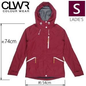○ 15-16 CLWR CAT JKT カラー:Burgundy Sサイズ カラーウェア スキー スノーボード レディースウェア ジャケット WEAR COLOUR off-1